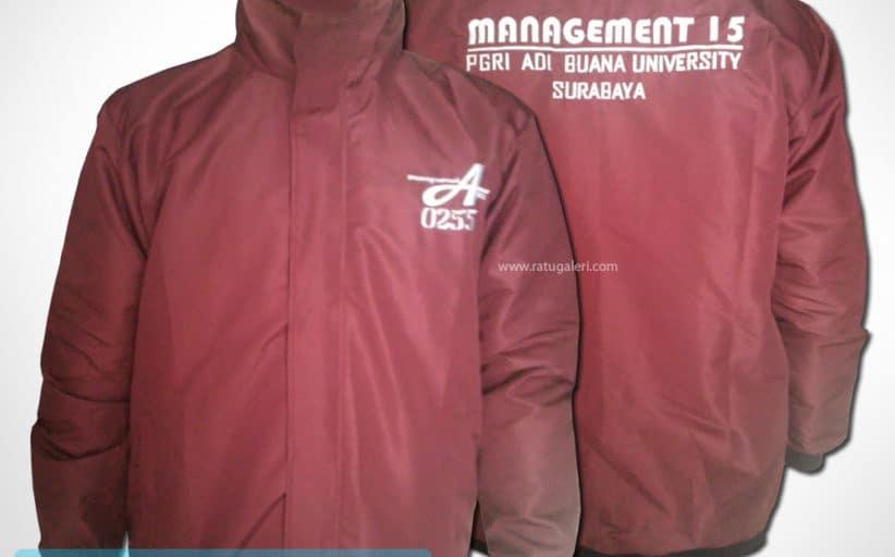 """Hasil Produksi Dan Desain Jaket """"Management '15"""" Universitas Adi Buana"""