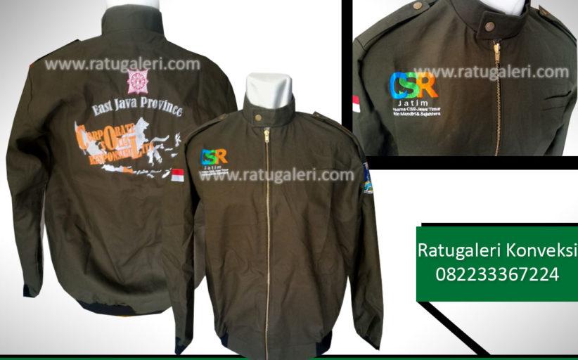 Hasil Produksi dan Desain Jaket kanvas, CSR Jatim.