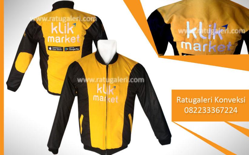 Hasil Produksi dan Desain Jaket, Klik Market.