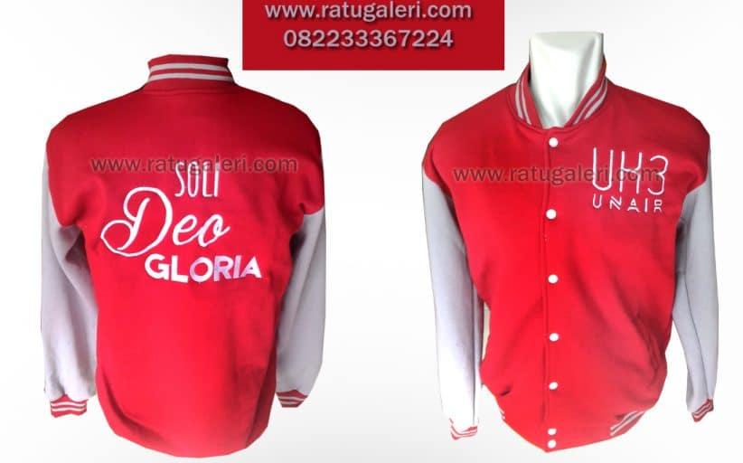 Hasil Produksi dan Desai Jaket Fleece, Deo Gloria Unair.