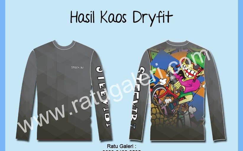 Hasil Produksi Desain Kaos Dryfit STEEVIBI