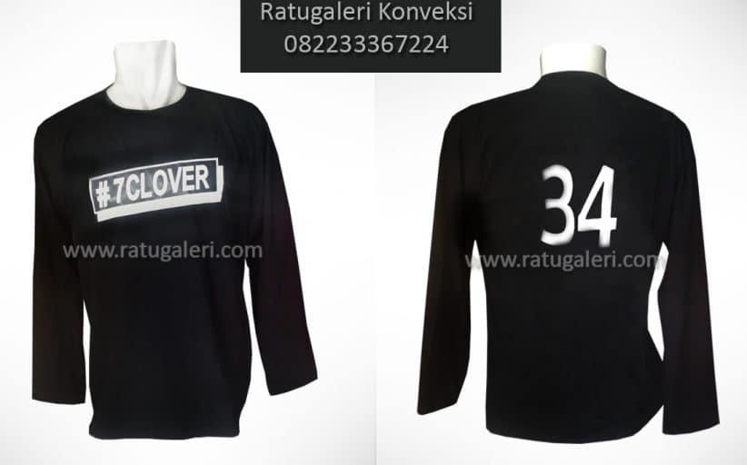 Hasil Produksi dan Desain Kaos Cotton Combed, 7Clover.