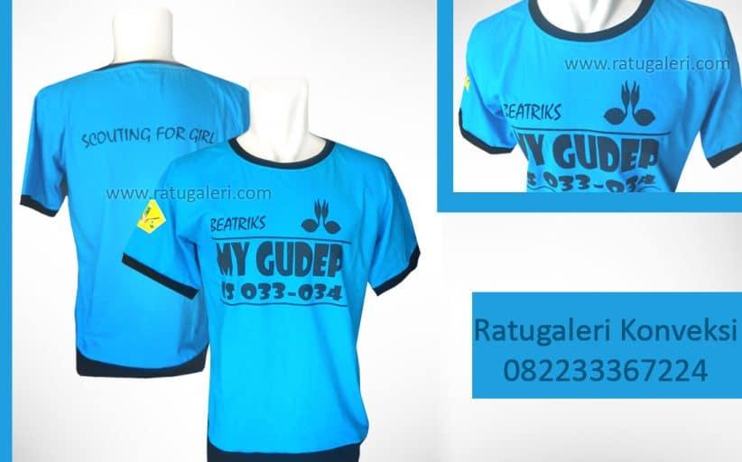 Hasil Produksi dan Desain Kaos Combed, My Gudep