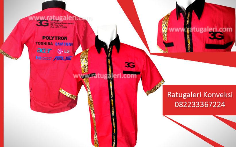 Hasil Produksi dan Desain Seragam Kombinasi Batik, 3G Morris.