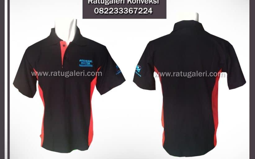 Hasil Produksi dan Desain Poloshirt, Regional Water.