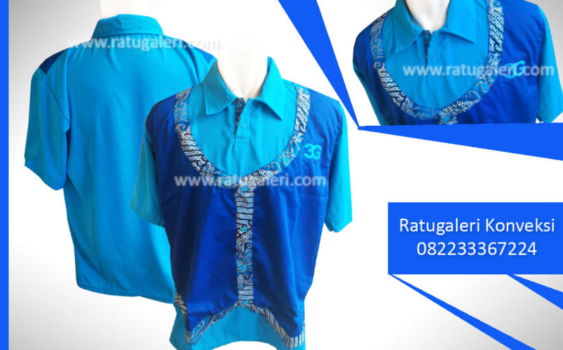 Hasil Produksi dan Desain Kemeja Rompi kombinasi Batik, 3GMorris.