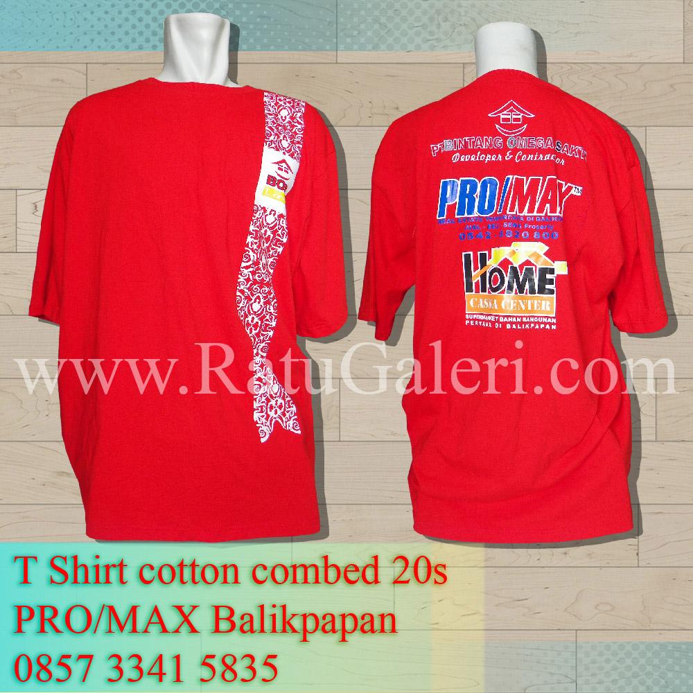 T-Shirt cotton combed 20s Pro/Max Balikpapan