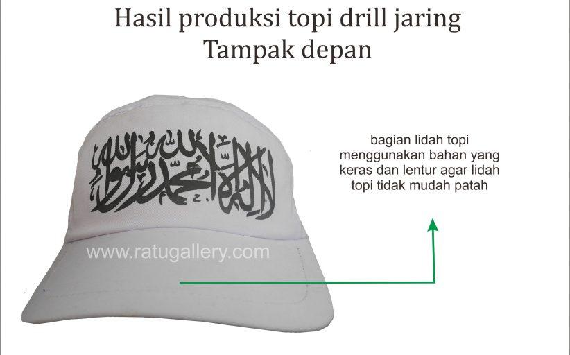 Hasil Produksi Topi Jaring Bahan Drill