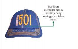 Hasil Produksi Topi Levis Bahan Denim