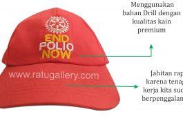 Hasil Produksi Topi Polio Bahan Drill