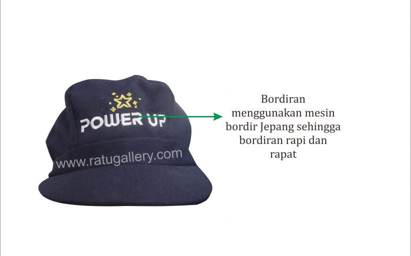Hasil Produksi Topi Power UP Bahan Rafel Daimaru