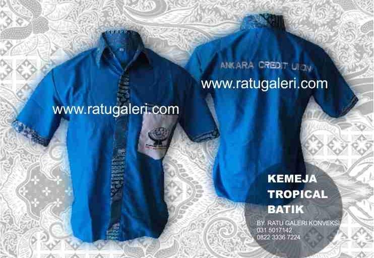Contoh Desain Konveksi Kemeja Tropical Batik Central Keramik